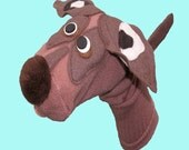 Adorable Brown Dog sock puppet Adult size