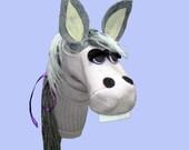 Handmade Donkey Sock Puppet