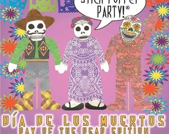 Dia de Los Muertos  Day of The Dead Puppets Making Kits Stick Puppet Craft Activity and Party Decorations