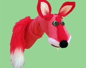 SALE Couture Fox Sock Puppet