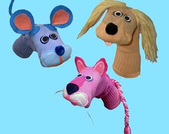 Handmade Toy Sock Puppet gift set