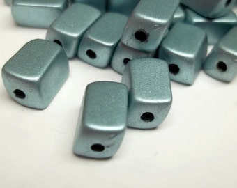 Steal grey resin rectangular beads,10x5mm,steal grey beads,rectangular beads,vintage beads,vintage resin beads,crafting beads,jewerly beads,