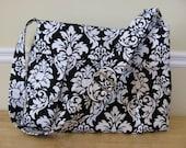 CLEARANCE Sale -HOT MAMMA Purse Bag in Michael Miller Black Damask