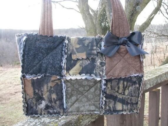 Mossy Oak Breakup Camo Rag Quilted Purse