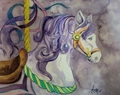 Carousel Pony Original Watercolor