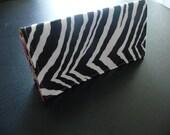 Zebra Checkbook Cover
