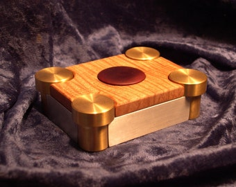 Figured Maple and Metal Ring Box