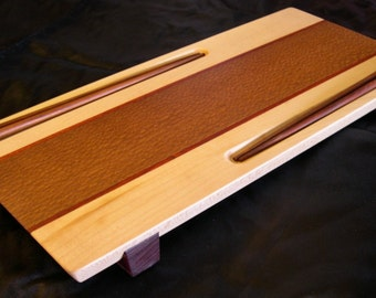 Two-Person Sushi Serving Board / Tray with Chopsticks