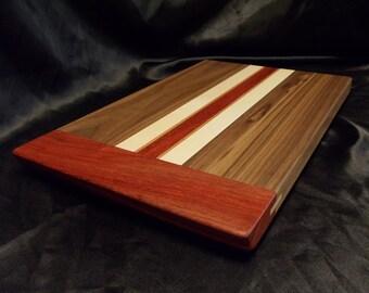 Walnut and Padouk Cutting Board