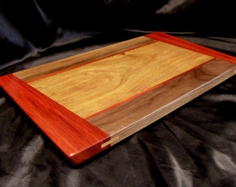 Canary Wood Cutting Board w/ Angled Padouk Ends