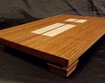 Floating Top Wood Cutting Board w/Figured Maple