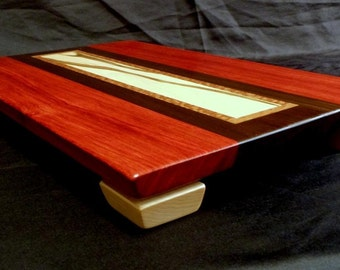Floating Top Padouk and Ambrosia Maple Wood Cutting Board
