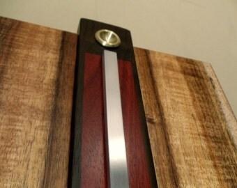 Figured Koa Wood and Metal Wall Art