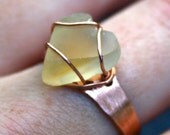 Butter Heart Beach Stone Ring