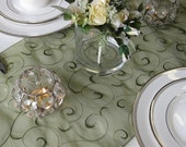 Swirl Embroidered Organza Table Runner (many colors available)
