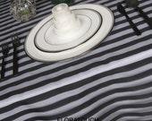 Tuxedo Organza Wedding Table Overlay - Black