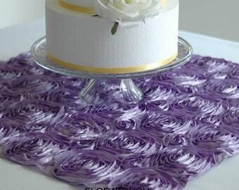 Satin Ribbon Rosette Wedding Table Square
