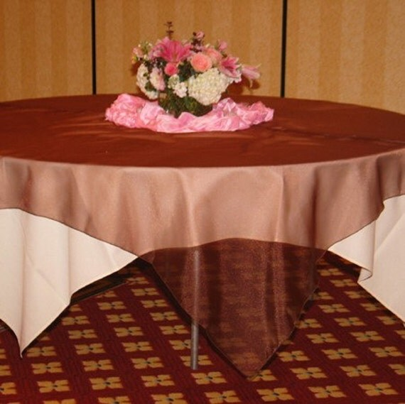 Crystal Organza Table Overlay 88 inches square