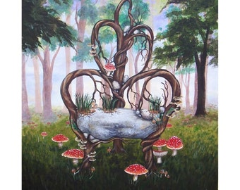 Natural Phrontistery- The Thinking Chair (PRINT ON CANVAS) 16x20