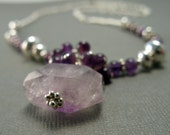 Lavender Ametrine, Purple Amethyst and Sterling Silver Necklace, February Birthstone, by Countenance Jewelry