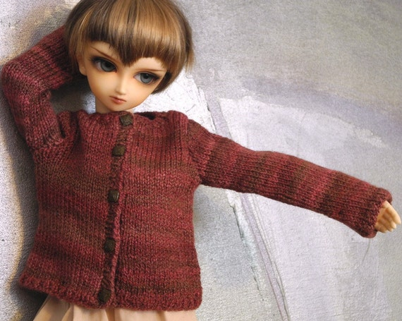 SD BJD handknit sweater Chocoberry