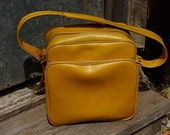 RESERVED RESERVED Vintage Yellow Messenger Bag \/ Purse