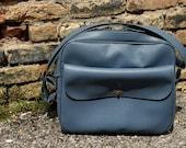RESERVED Vintage Blue Sears Bag \/ Tote \/ Purse