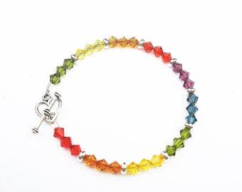 Rainbow Bracelet - Swarovski Crystals