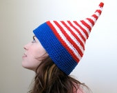 Fourth of July American Flag Elf Hat in Adult or Child
