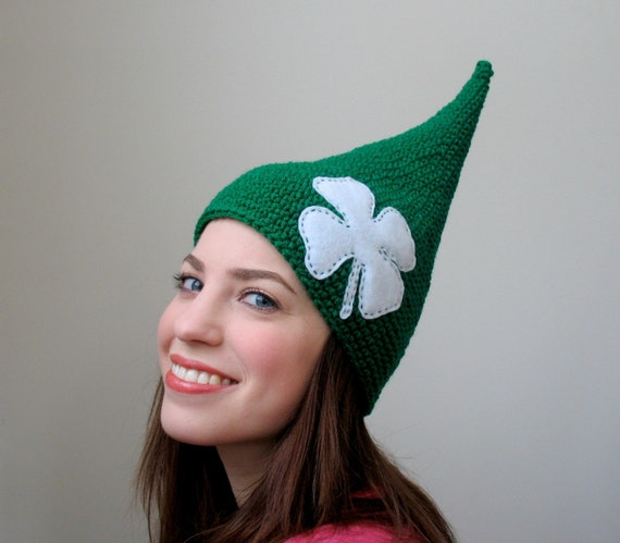 Luck 'O the Irish - Halloween Shamrock St. Patricks Day Leprechaun Elf Hat