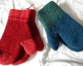 Reserved for Darcy Wool Mittens, Felted Knit, Children's L through Adult,