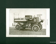 1907 Automobile Chemical Engine and Hose Carriage Antique Print