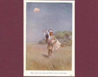 1932 Indian Myths Print - Captured Maiden