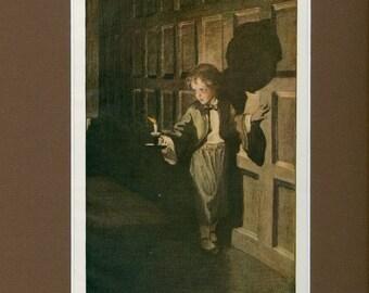 1905 Antique Children's Print of North West Passage Poem
