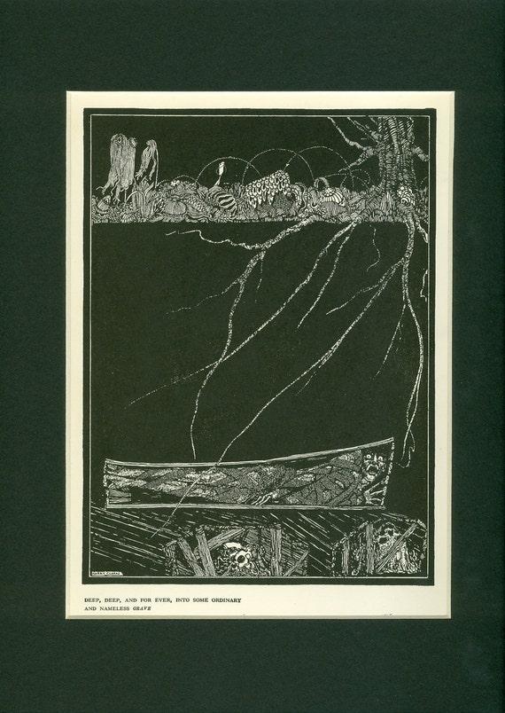 1939 Edgar Allen Poe The Premature Burial Vintage Print