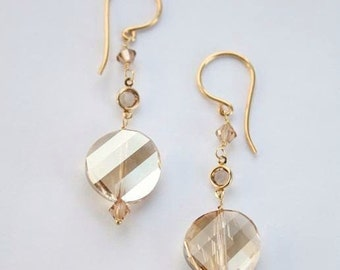 Golden Shadow Drop Earrings- Luxe