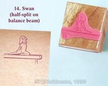 Hand Stamp gymnastics skills YOU CHOOSE sports scrapbooking dance preschool NEW handstamp handcrafted pink rubber