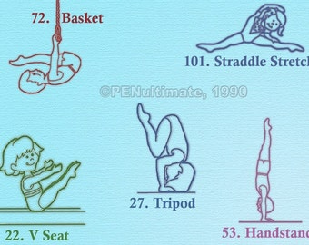 Rubber Stamp Gymnastics  hand stamp for Scrapbookers dance sports preschool classes Handstamp New, Five Choices
