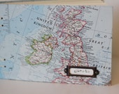 vintage maps upcycled book