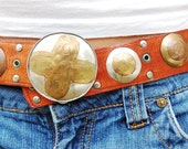 Best of the Southwest leather, silver, copper and brass belt