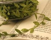 1 spool (Wholesale) olive Green color leaf garland ribbon (25 yards)