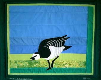 Brant -- Art Quilt with Goose