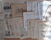 French Vintage papers - to use in collage