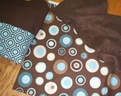 Kindermat nap mat cover - Blue/Brown personalized nap mat cover, blanket and pillow for preschool kindergarten