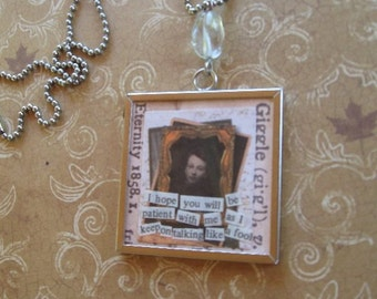 Revamped memory glass necklace