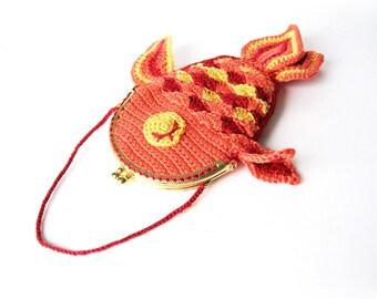 Lucky Goldfish Purse Crochet Pattern