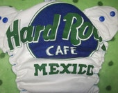 MamaBear One Size Fitted Cloth Diaper - Hard Rock Cafe Mexico