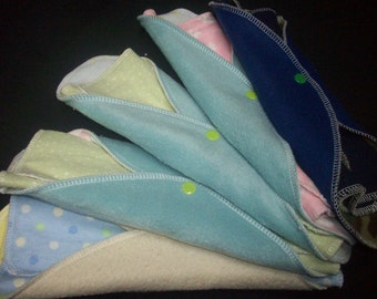 Single MamaBear LadyWear Quick-Dry cloth menstrual pads - COTTON VELOUR - Heavy/Overnight/Post Partum