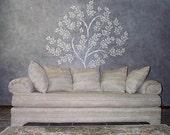 Raised Plaster Life-Sized Tree Stencil, Wall Stencil
