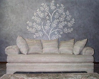Raised Plaster Life-Sized Tree Stencil, Wall Stencil